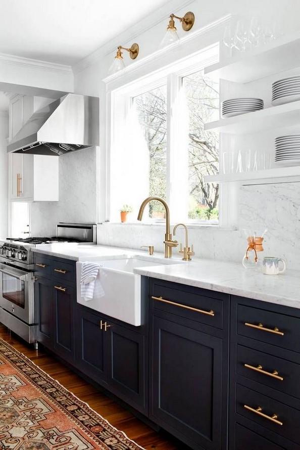10 Stylish Black Kitchen Interior Design Ideas For Kitchen 15