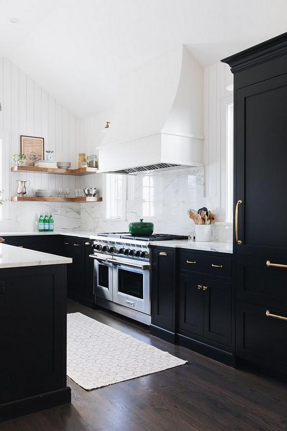 10 Stylish Black Kitchen Interior Design Ideas For Kitchen 21