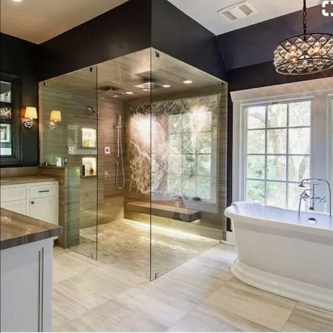 14 Delightful Bathroom Tub Shower Combo Remodeling Ideas 27