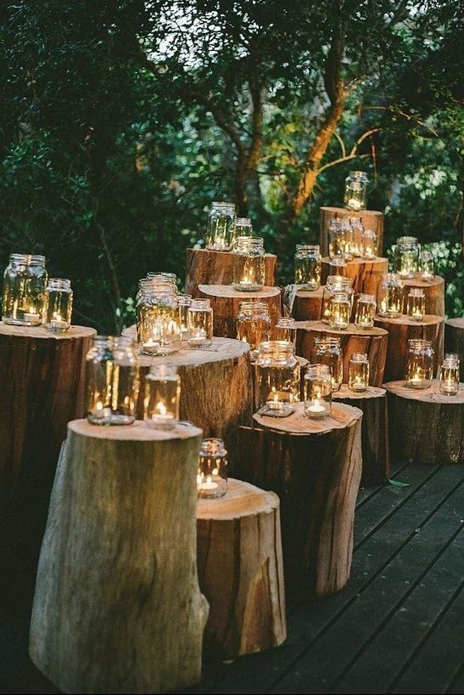 15 Rustic Backyard Outdoor Wedding Ideas 41