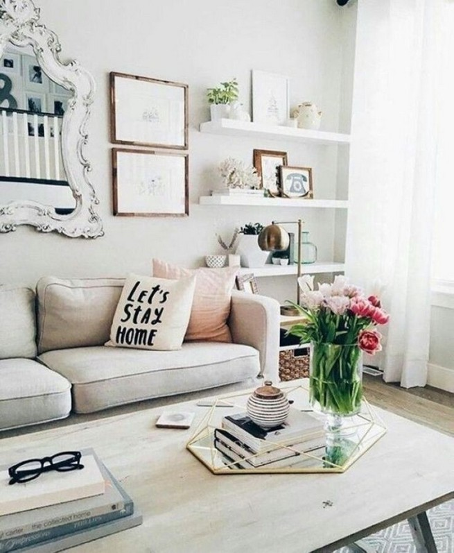 16 Elegant Living Room Shelves Decorations Ideas 04