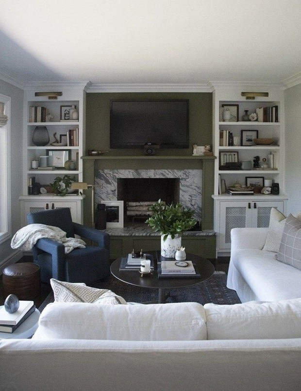 16 Elegant Living Room Shelves Decorations Ideas 10