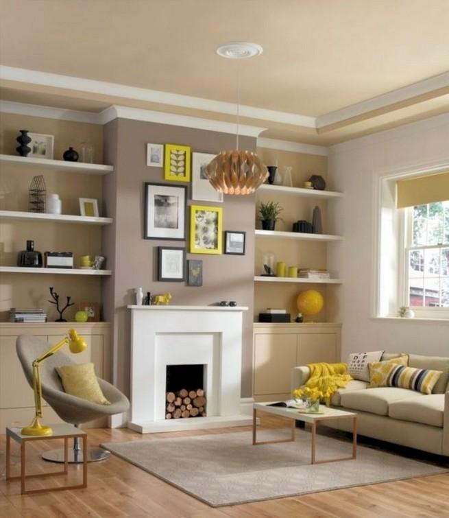 16 Elegant Living Room Shelves Decorations Ideas 17