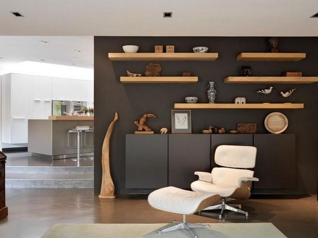 16 Elegant Living Room Shelves Decorations Ideas 28