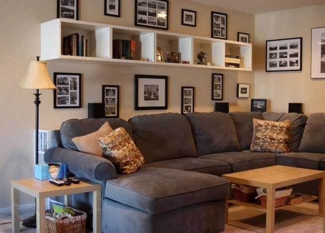 16 Elegant Living Room Shelves Decorations Ideas 33