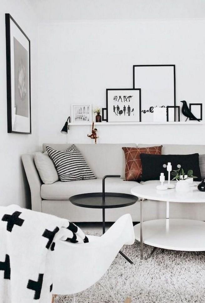 16 Elegant Living Room Shelves Decorations Ideas 54