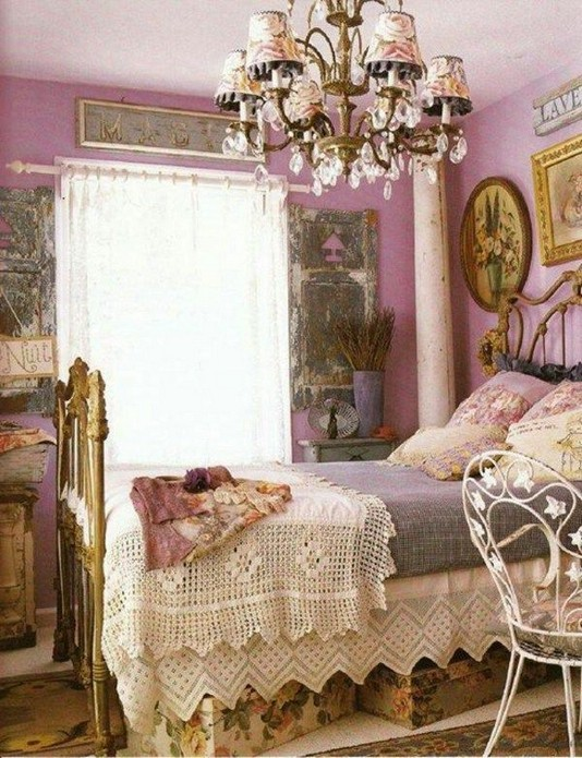 18 Shabby Chic Bedroom Design Ideas 34