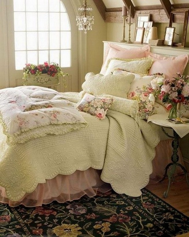 18 Shabby Chic Bedroom Design Ideas 39
