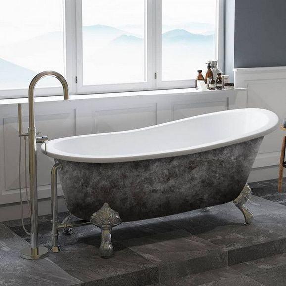 17 Modern Bathrooms With Clawfoot Tubs 36