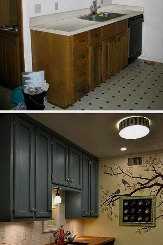 18 Easy Kitchen Cabinet Painting Ideas 14