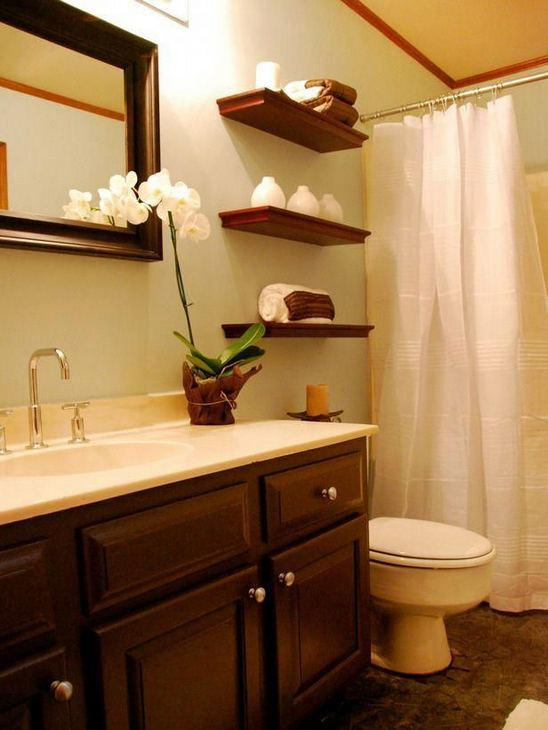 19 Cool Creative Bathroom Wall Shelves Ideas For Small Space 12