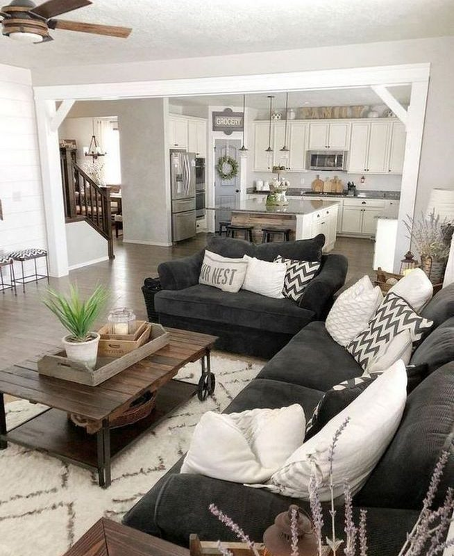 16 Cozy Farmhouse Style Living Room Decor Ideas 27