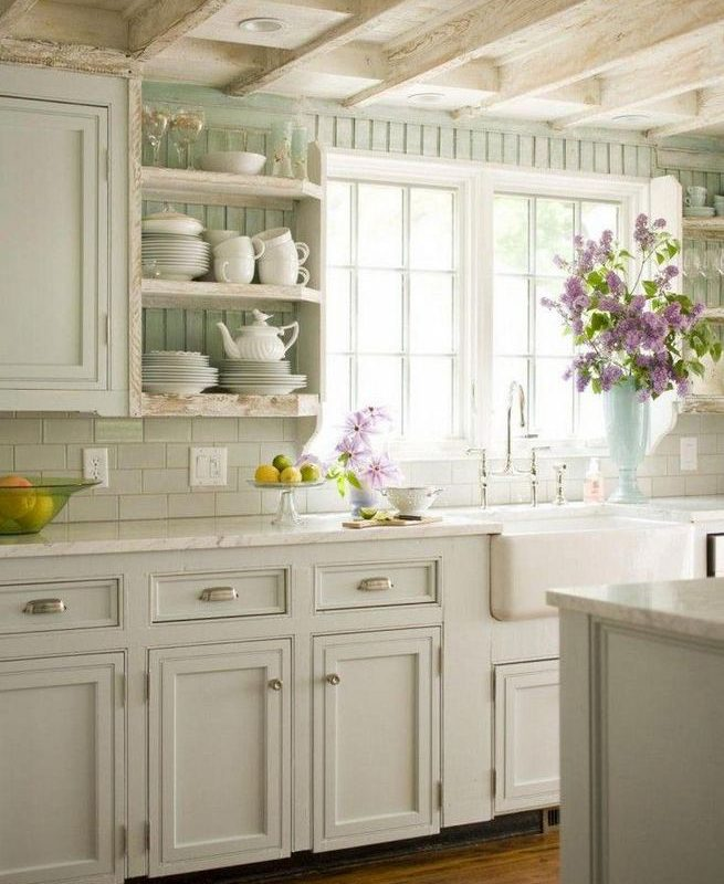 17 Inspiring Country Style Cottage Kitchen Cabinets Ideas 27
