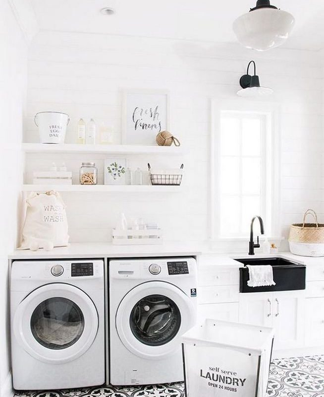 17 Top Cozy Small Laundry Room Design Ideas 22