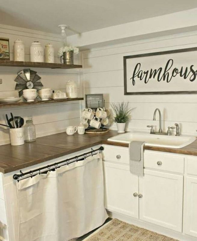 19 Clever Small Kitchen Remodel Open Shelves Ideas 18