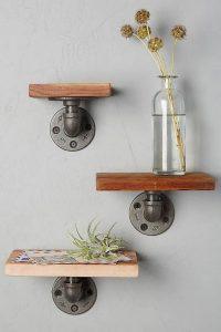 13 Creative DIY Pipe Shelves Design Ideas 05
