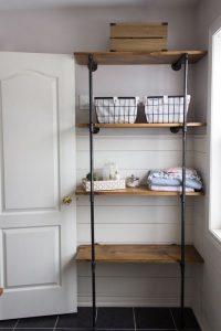 13 Creative DIY Pipe Shelves Design Ideas 07