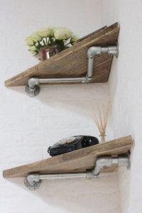 13 Creative DIY Pipe Shelves Design Ideas 22