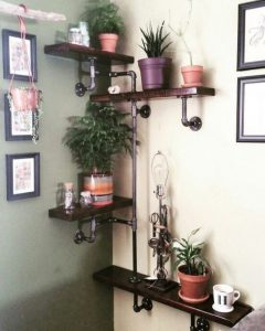 13 Creative DIY Pipe Shelves Design Ideas 30