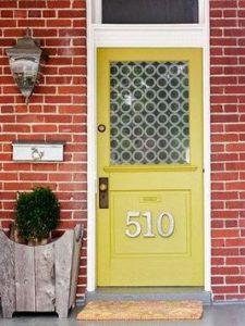13 Fantastic Yellow Brick Home Decor Ideas For Front Door 13