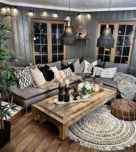 14 Cozy Bohemian Living Room Decoration Ideas 22