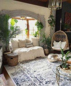 14 Cozy Bohemian Living Room Decoration Ideas 29