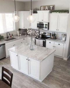 15 Incredible Farmhouse Gray Kitchen Cabinet Design Ideas 05