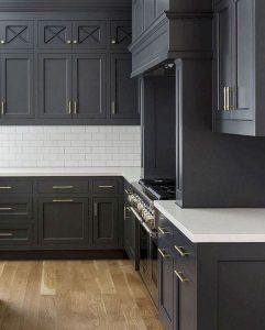 15 Incredible Farmhouse Gray Kitchen Cabinet Design Ideas 13