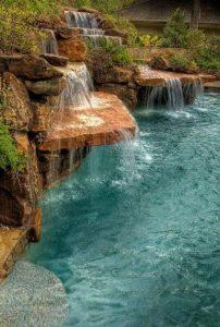 15 Relaxing Backyard Waterfalls Ideas For Your Outdoor 11