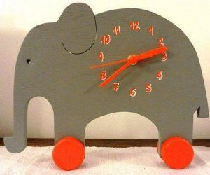 16 Cute Creative DIY Wall Clock Ideas For Kids Room 21