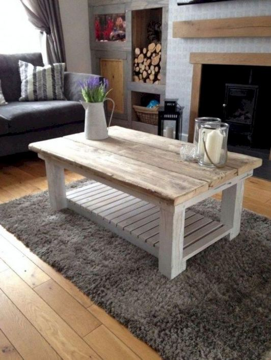 19 Easy DIY Coffee Table Inspiration Ideas 18