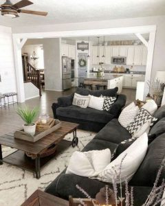 21 Warm And Cozy Farmhouse Style Living Room Decor Ideas 03