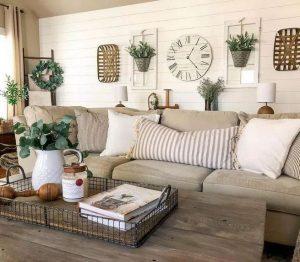 13 Cozy Farmhouse Living Room Decor Ideas 06
