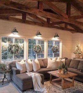 13 Cozy Farmhouse Living Room Decor Ideas 18