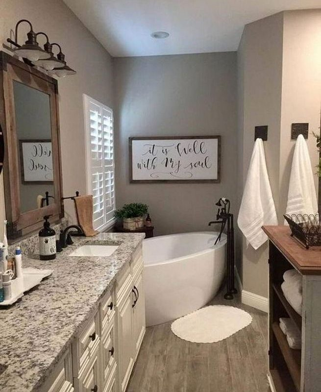 14 Beautiful Master Bathroom Remodel Ideas 31