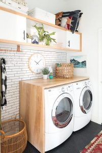 16 Brilliant Small Functional Laundry Room Decoration Ideas 07