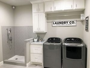 16 Brilliant Small Functional Laundry Room Decoration Ideas 14
