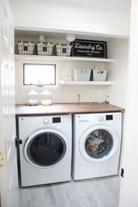 16 Brilliant Small Functional Laundry Room Decoration Ideas 28