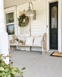 21 Stunning Farmhouse Front Porch Decor Ideas 17