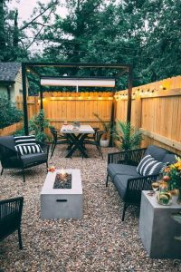 15 Awesome Winter Patio Decorating Ideas With Fire Pit – Making Your Patio Warm And Cozy 06