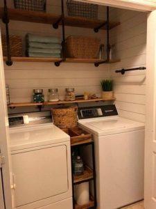 15 Models Bathroom Shelf With Industrial Farmhouse Towel Bar 03
