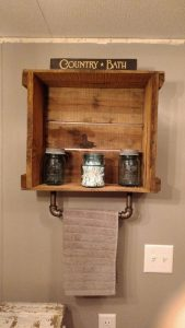15 Models Bathroom Shelf With Industrial Farmhouse Towel Bar 04