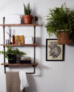 15 Models Bathroom Shelf With Industrial Farmhouse Towel Bar 11