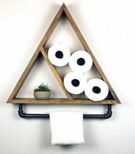 15 Models Bathroom Shelf With Industrial Farmhouse Towel Bar 15