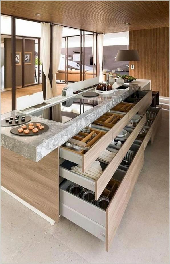 16 Amazing Modern Kitchen Cabinets Design Ideas 09