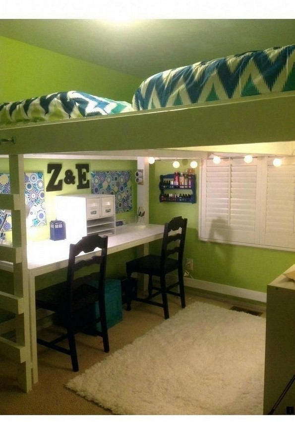 16 Bunk Beds Design Ideas With Desk Areas Help To Make Compact Bedrooms Bigger 04