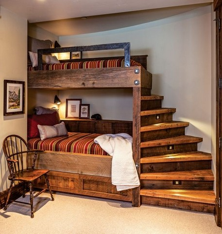 16 Bunk Beds Design Ideas With Desk Areas Help To Make Compact Bedrooms Bigger 12