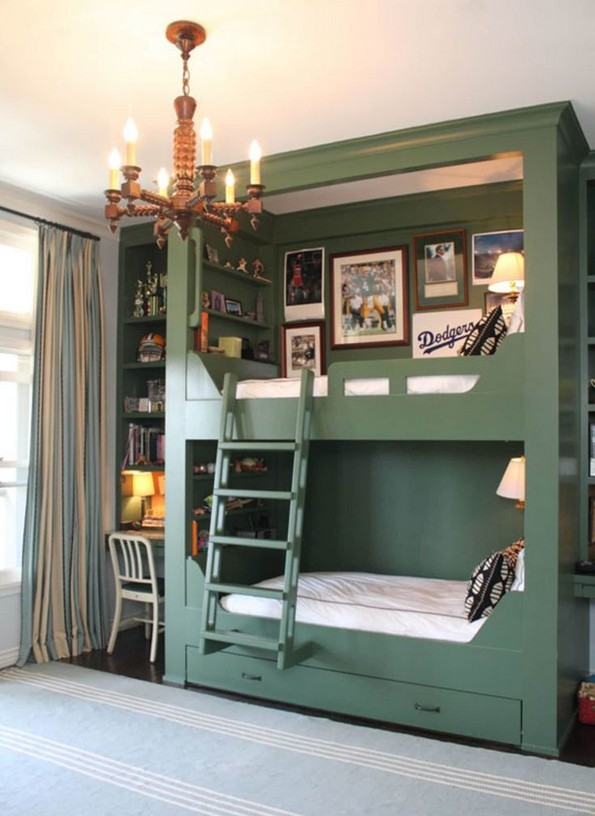 16 Bunk Beds Design Ideas With Desk Areas Help To Make Compact Bedrooms Bigger 20