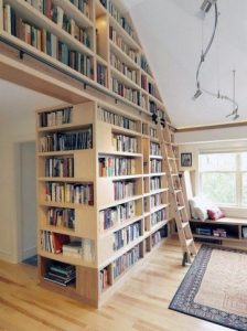 16 Fantastic Floor To Ceiling Bookshelves With Ladder 03