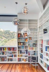 16 Fantastic Floor To Ceiling Bookshelves With Ladder 07